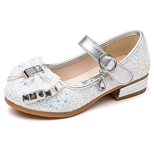 (YING LAN Little Big Girl Glitter PU Leather Mary Jane Shoes)