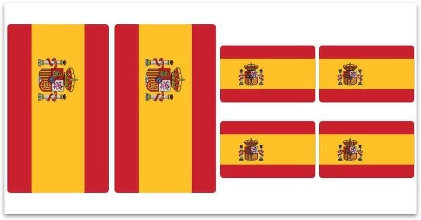 Tabla de pegatinas, diseño de la bandera de España? Z124: Amazon.es: Hogar