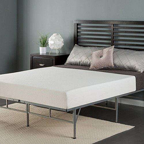 Zinus 8 Inch Memory Foam Mattress and Easy To Assemble Smart Platform Metal Bed Frame, Twin (Platform Complete Set)