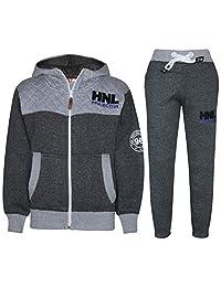 Kids Boys Girls Designer Tracksuit Jogging Suit Jacket Top Bottoms Joggers 7-13Y