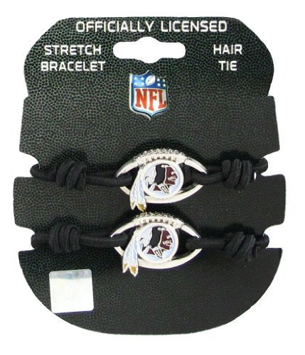 NFL Washington Redskins Stretch Bracelet & Hair Tie, 2-Pack by Aminco International