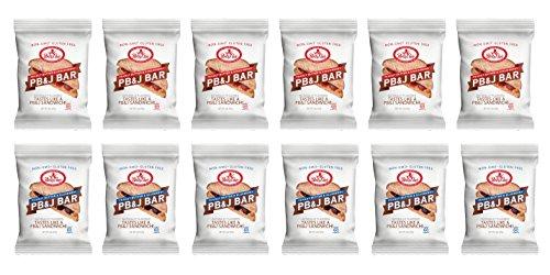 Betty Lou's PB&J Bar Variety Pack of 12 ( 6 Blueberry , 6 Strawberry ()