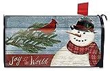 Briarwood Lane Joy to the World Snowman Christmas Mailbox Cover Primtiive Seasonal Standard