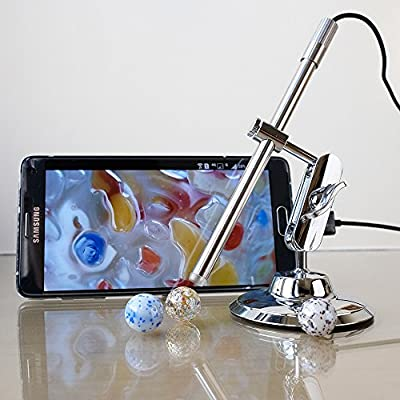 Digital USB Microscope, Teslong Portable Multi-function Magnifier Otoscope Intraoral Camera with 10-200 Magnification IP67 Waterproof for Android PC and Mac