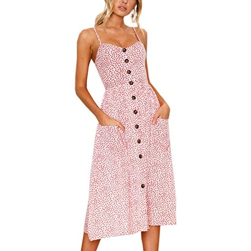 Angashion Women's Dresses-Summer Floral Bohemian...