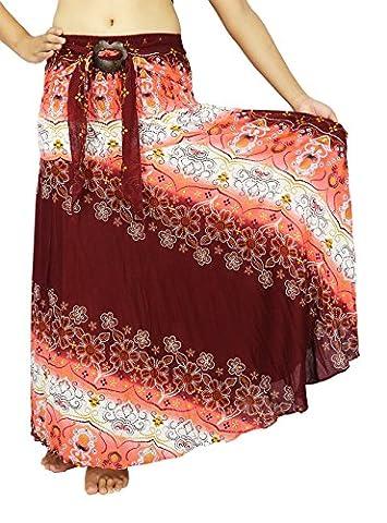 Lek Boutique Women's Long Bohemian Hippie Multi Color Skirts US Size 0-14 (ACC Pink) (Hippie Acc)
