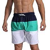 Milankerr Men's Swim Trunk Beach Shorts (XL(Waistline:40''-42''), Navygreen)