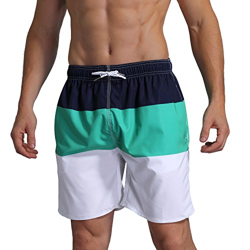 Summer Brand Beach Shorts Men Swimsuit Swimwear Quick Dry Mens Board Shorts Male Bermudas Bathing Short Sportswear Inside Liner Shrink-Proof Men's Clothing
