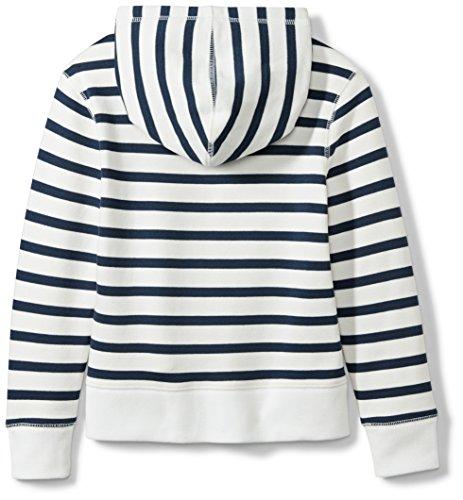 Spotted Zebra Little Girls' Fleece Zip-Up Hoodies, Navy/White Stripe, X-Small (4-5) by Spotted Zebra (Image #2)