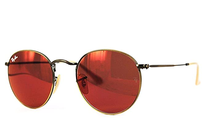 8c5b771693e9a Ray-Ban Mirrored Round Men s Sunglasses - (0RB3447167 2K50