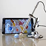 Teslong 10-200X Zoom Handheld Digital USB Microscope Magnifier Multi-function Inspection Camera Otoscope Nasal Endoscope Intraoral Camera Dermatoscope Support with Android Smartphone and PC