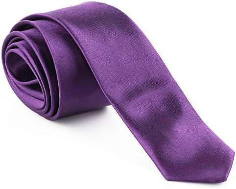 Men's Solid Purple Polyester Tie