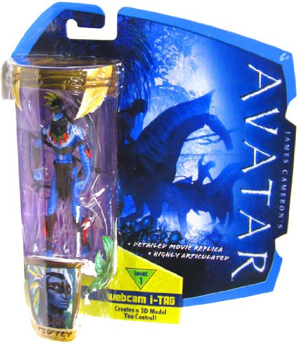 James Cameron's Avatar Movie 3 3/4 Inch Na'vi Action Figure TsuTey with War Paint & Headdress