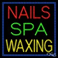 27x27x1 inches Nails Spa Waxing Animated Flashing LED Window Sign