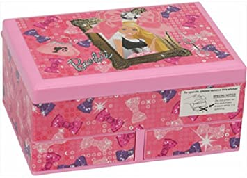 Buy Barbie Bowtique Musical Jewellery Box Pink Online at Low
