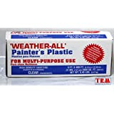 TRM Manufacturing HD9 Weatherall Painter's Plastic , Roll Size 9' X 400', Polythelene
