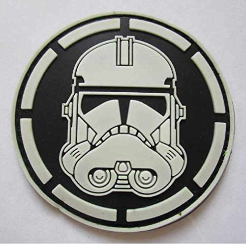 Star Wars Clone Soldier Stormtrooper Military PVC Patch Rubber Badges Patch Tactical Stickers for Clothes Back with Hook (color2)]()