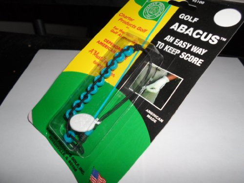 Golf Abacus Stroke Counter Easy Way to Keep Score Turquoise