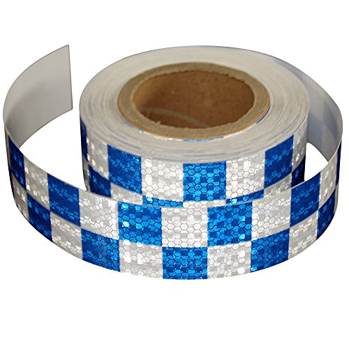 Design Reflective Safety Warning White blue