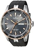 Edox Men's 'Grand Ocean' Swiss Automatic Stainless Steel and Rubber Diving Watch, Color:Black (Model: 88002 357RCA AIR)