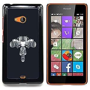 For Microsoft Nokia Lumia 540 N540 - Speaker Owl /Modelo de la piel protectora de la cubierta del caso/ - Super Marley Shop -