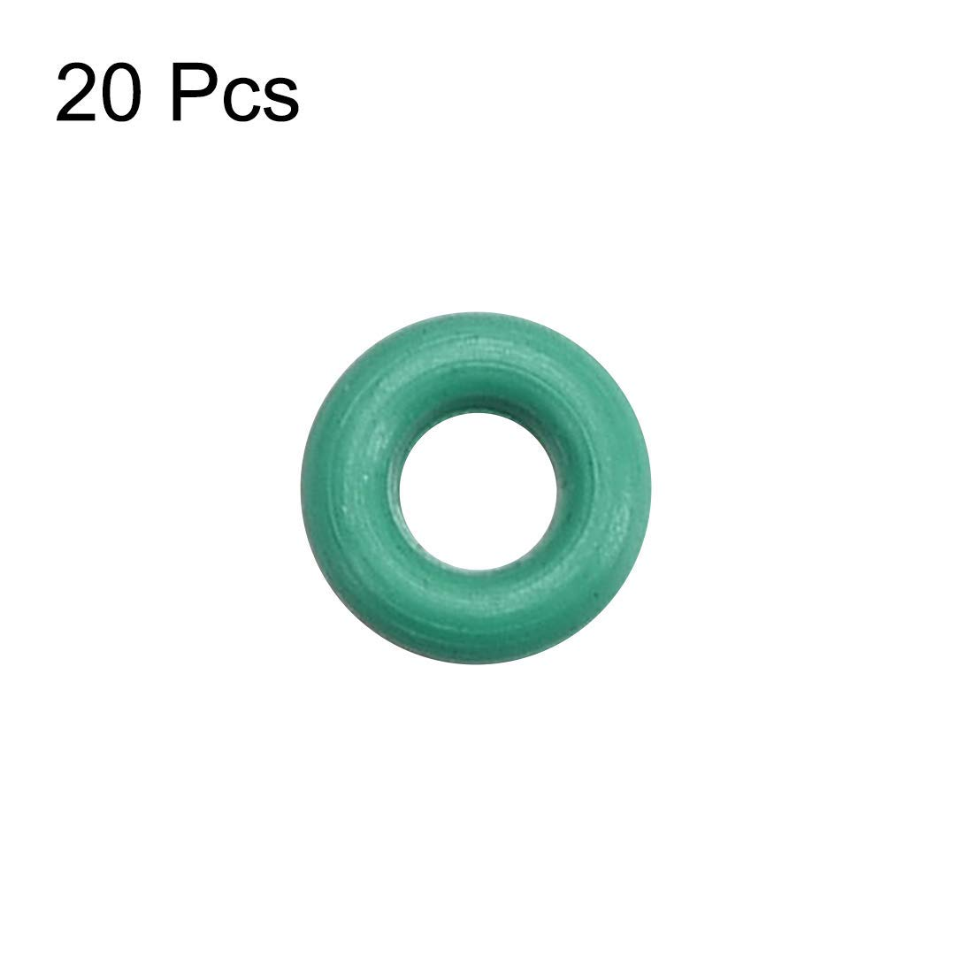 Width of 2 mm Odor Rings of Fluorine Rubber Green Seal 10 Pieces Inner Diameter of 18 mm Outer Diameter of 22 mm
