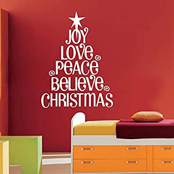 white large quotes wwindow sticker christmas decor decal gift christmas wall decals store christmas ornaments - Christmas Decoration Quotes