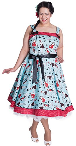 Hell DIXIE DRESS Bunny Blau Kleid q6SRHwX