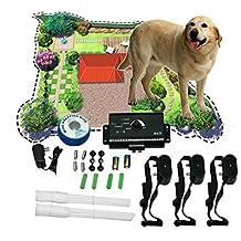 New underground shock collar 3 collars pet dog electric fence