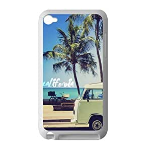 Canting_Good Palm Trees and California Dreaming Custom Case skin for IPod Touch 4 TPU (Laser Technology) by lolosakes