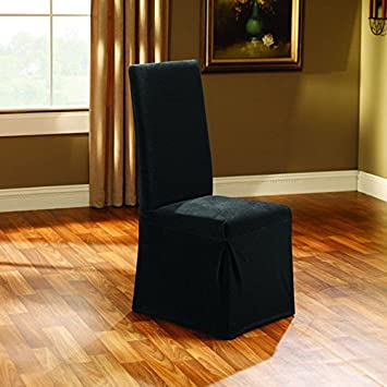 Sure Fit Stretch Pique 2 Knit   Dining Room Chair Slipcover   Black   SF35572 Amazon com  Sure Fit Stretch Pique 2 Knit   Dining Room Chair  . Dining Room Chair Slipcovers. Home Design Ideas