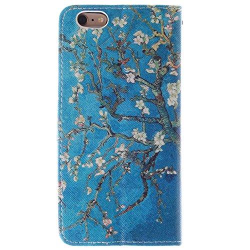 """MOONCASE iPhone 6 Case Magnetverschluss Leder Tasche Flip Case Cover Mit Standfunktion Kartenfächer Schutzhülle Etui Hülle Schale für iPhone 6 (4.7"""") -TX02"""