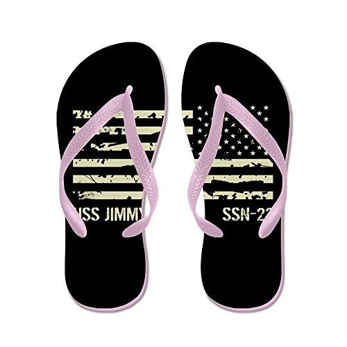 Cafepress Uss Jimmy Carter - Flip Flops, Roliga Rem Sandaler, Strand Sandaler Rosa