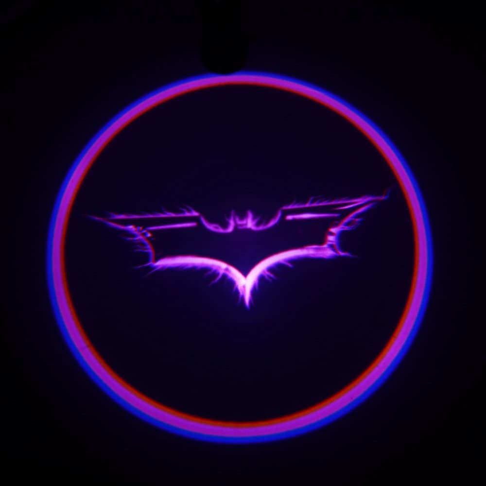 Sie O 2 X Cool Violett Batman Fledermaus Auto Tür Led Logo Projektion Höflichkeit Welcome Logo Shadow Ghost Light Laser Projektor Licht Auto