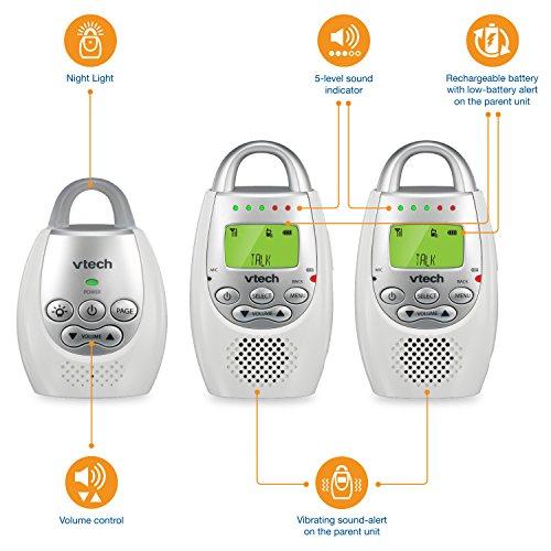 Vtech Dm221 2 Safe Amp Sound Digital Audio Baby Monitor With