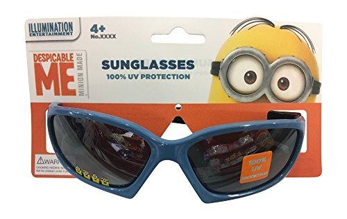 [Despicable me Boys Blue Childrens Kids Boys Blue Shine Sunglasses - 100% UVA & UVB Protection] (Despicable Me Glasses)
