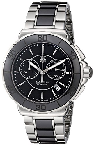 - TAG Heuer Women's 'Formula One' Quartz Stainless-Steel-Ceramic Sport Watch, Color:Silver-Toned (Model: CAH1210.BA0862)