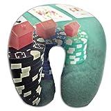 Gtrgh Business Poker Super U Type Pillow Neck Pillow Outdoor Travel Pillow Relief Neck Pain