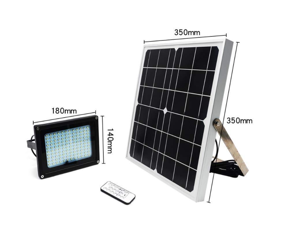 Luce di Inondazione Solare, 120 LED Luci di Parete Esterna di Sicurezza Controllo Remoto A Luce Controllata Impermeabile può Essere Temporizzato Spotlight Solare per Giardino