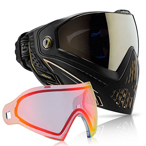 - Dye i5 Paintball Goggle - Onyx/Gold with Bronze Fire Thermal Lens Combo
