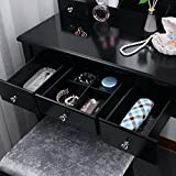 BEWISHOME Vanity Set with Mirror & Cushioned