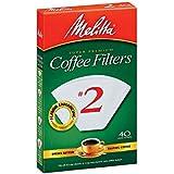 Melitta 622704 #2 White Cone Coffee Filters 40 Count
