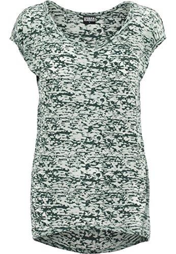 Urban Classics Ladies Burnout Tee, Camiseta para Mujer petróleo