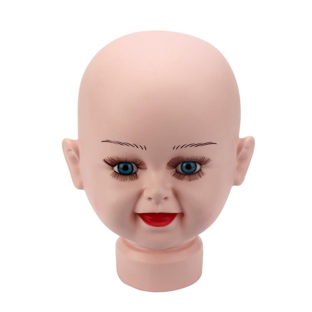 WensLTD新しいベビーマネキン人形Head Displayモデルを表示スタンド帽子ウィッグMould Cosmetology B06XD24RQB