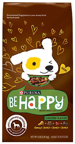 Purina Be Happy Dog Food, Chicken Flavor, 4-Pound (Pack of 6), My Pet Supplies
