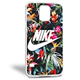 Nike Tropical flower just do it for samsung galaxy case (Samsung Galaxy S5 White)