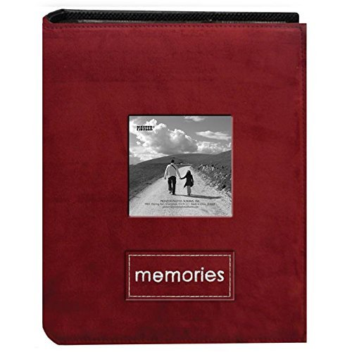 - Pioneer Embroidered Patch Faux Suede Photo Album, with Front Cover Frame, Holds 100 4x6