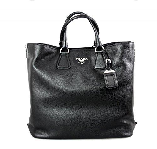 Prada Women's BN2419 Black Leather Shopper