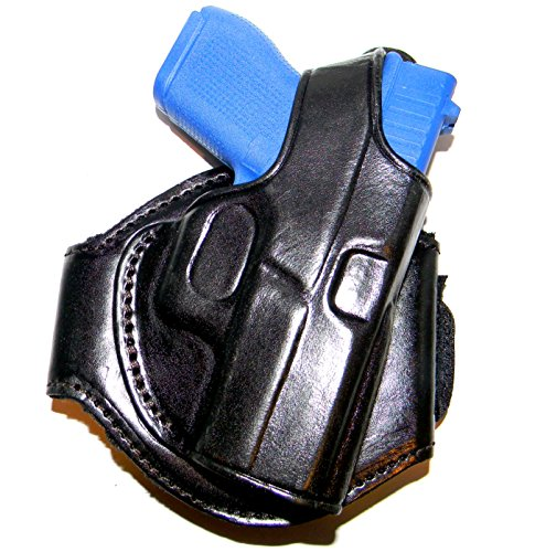 (Tagua LANK-305 Glock 42 (380) Leather Ankle Holster, Black, Right Hand)