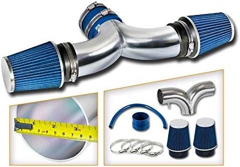 Filter Combo BLUE Compatible For 02-08 Dodge Ram // 04-07 Dodge Dakota//Durango // 04-07 Jeep Liberty 3.7L 4.7L with DUAL 2 Filters /… Rtunes Racing Short Ram Air Intake Kit